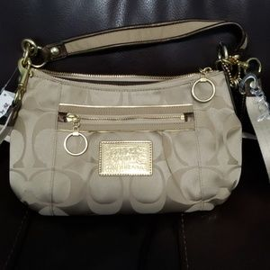 Coach Poppy Signature Sateen Groovy Handbag 15317